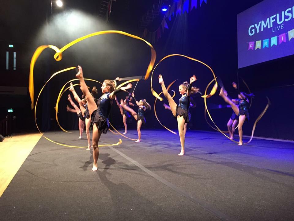 Rhythmic ribbon performance