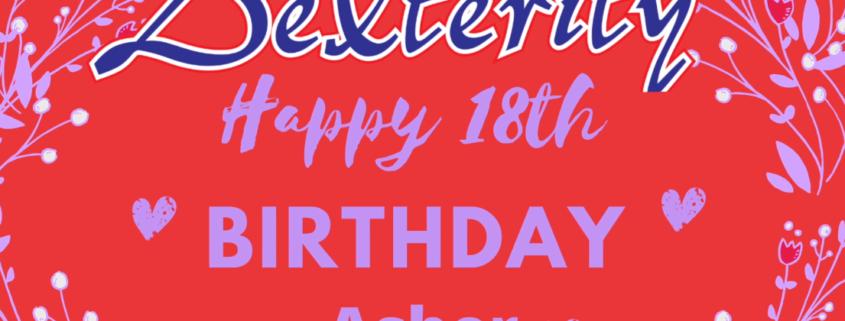 Happy 18th Birthday Asher